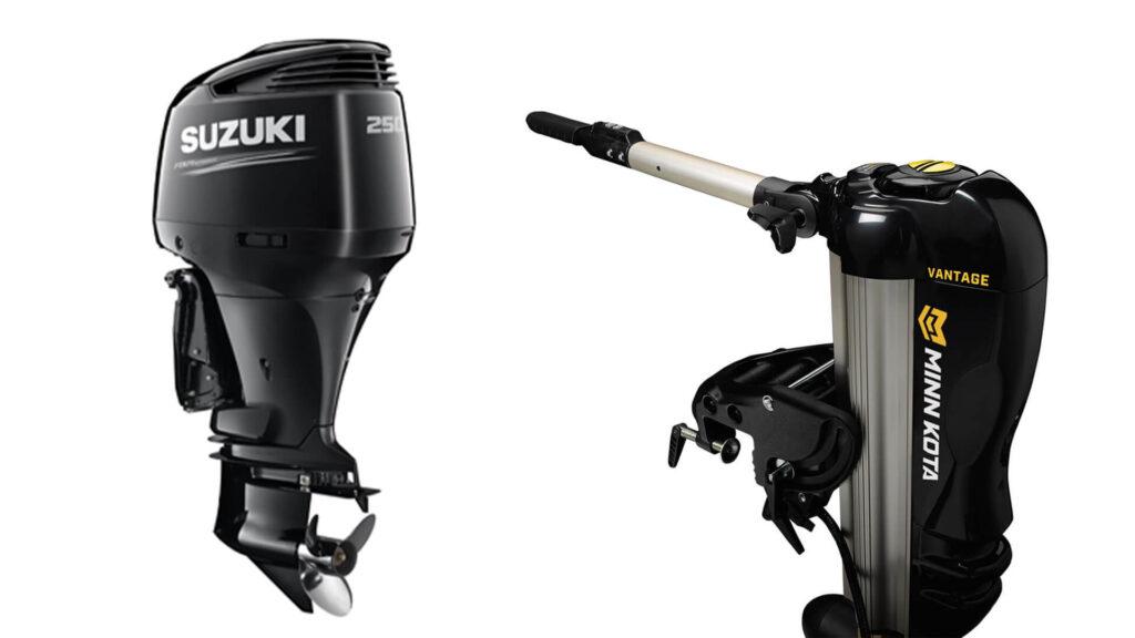 Motori di poppa Minnkota e Suzuki